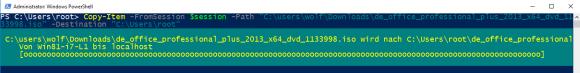 Dateien vom entfernten auf den lokalen PC kopieren mit dem Parameter FromSession.