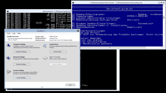 Corefig bietet deutlich mehr Funktionen als Microsofts textbasiertes sconfig.