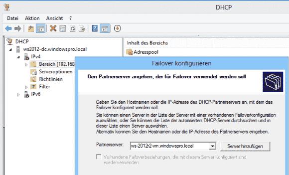 Im Failover-Server muss man die Bereiche, die er absichern soll, nicht anlegen. Er erhält die Konfiguration via Sync.