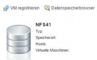 Datastore mit NFS 4.1 in ESXi Host Client