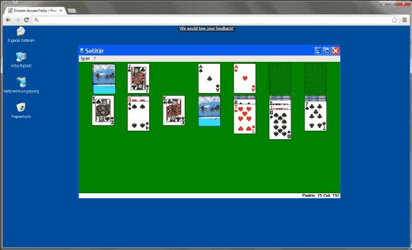 Ericom AccessToGo bietet eine flüssige Darstellung des entfernten Desktops, aber er bietet nur die Basisfunktionen.