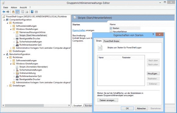 Über GPOs kann man Scripts für das Login konfigurieren, aber auch für das Ausloggen und das Starten sowie Herunterfahren des PCs