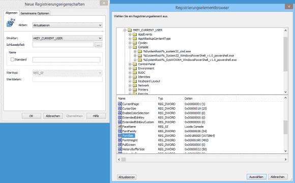 Im GPO-Editor kann man sich durch die Registry zu den gewünschten Schlüsseln klicken.