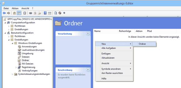 Wählt man für einen neuen Ordner die Einstellung unter Benutzerkonfiguration, dann sollte man dies nachher für Dateien auch tun.