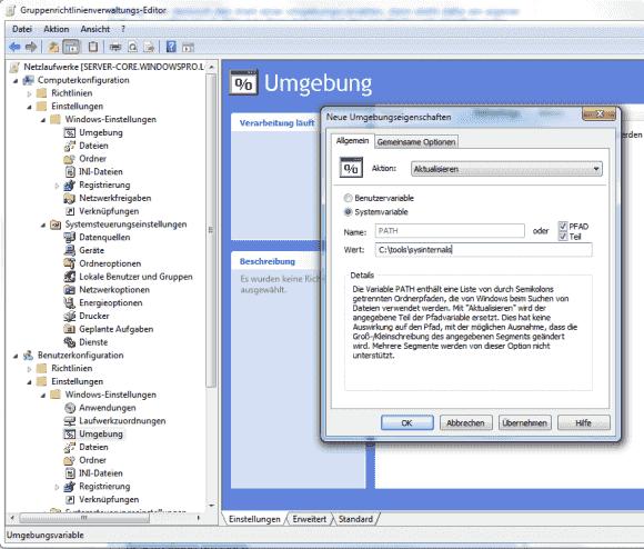 Die GPP bieten eine eigene Funktion, um den Suchpfad teilweise oder ganz zu verändern.
