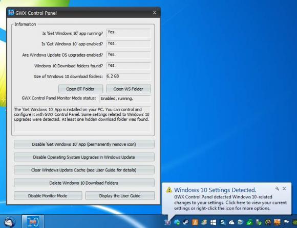 Das GWX Control Panel hilft dabei, automatische Upgrades auf Windows 10 verlässlich zu unterbinden.