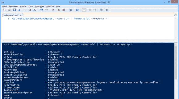 Get-NetAdapterPowerManagement liefert auch Infos zur Konfiguration von Wake-on-LAN.
