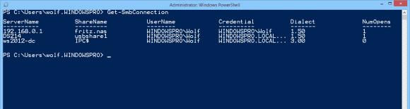 Get-SmbConnection zeigt, dass einige NAS noch die alte Version von SMB nutzen.
