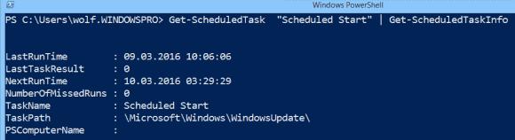 Get-ScheduledTaskInfo liefert Details zu den geplanten Aufgaben