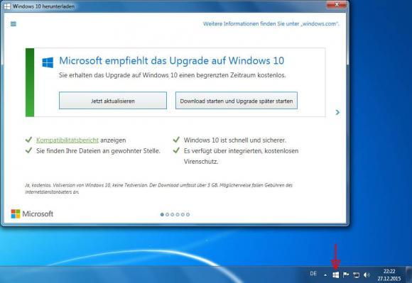 Die Get Windows 10 App erinnert Benutzer immer wieder an das Windows-10-Upgrade. Sie lässt sich jedoch deaktivieren.