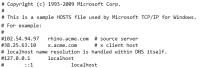 Aufbau einer Hosts-Datei
