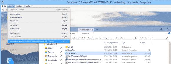 Das Setup der Integrationsdienste unter Windows 8.x und Server 2012 R2 kennt die Option '/uninstall' nicht mehr.