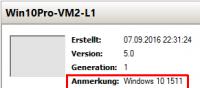 Anmerkungen für VMs im Hyper-V Manager