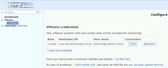 Eingabe der vSphere-Credentials mit der Möglichkeit, diese zu testen.