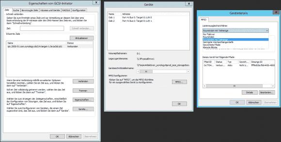 Microsofts DSM bietet mehrere Varianten des Lastenausgleichs zwischen den Pfaden zum Storage-System an.