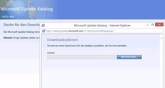 Auch nach Eingabe des Admin-Passworts lässt sich der Durchsuchen-Button nicht klicken.