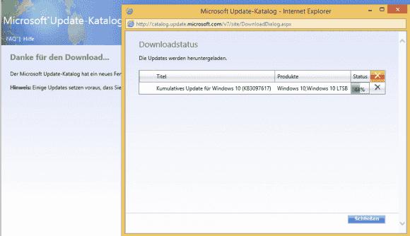 Startet man den IE gleich als Admin, dann klappt der Download.