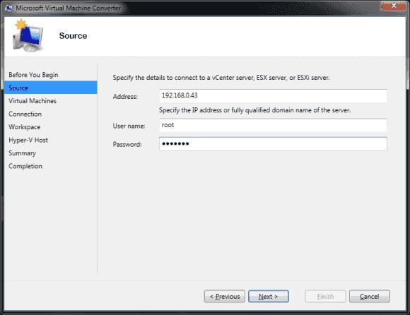 Der Microsoft Virtual Machine Converter migriert aktive VMs von vSphere nach Hyper-V.