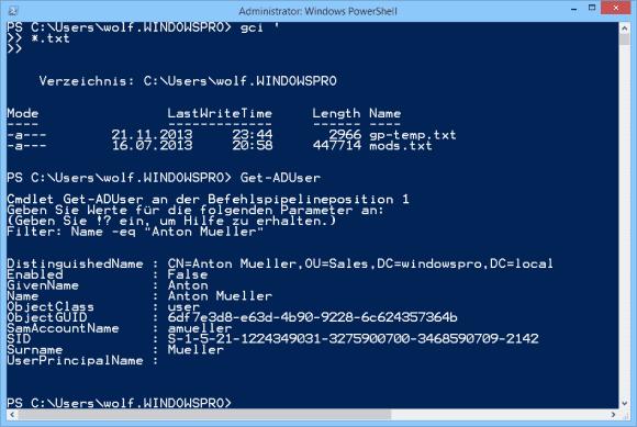 PowerShell führt einen Befehl nach dem ´ auf einer neuen Zeile fort. Fehlt ein Parameter, dann erfolgt dies automatisch.