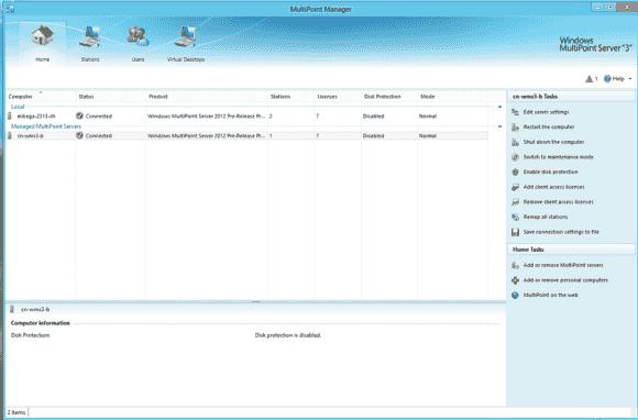 Über den Multipoint Manager lassen sich alle Stationen zentral steuern.