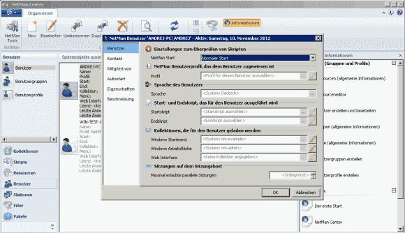 Die integrierte Benutzerverwaltung erlaubt die fein granulare Konfiguration auf User-Ebene