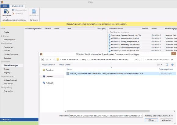 Durch das Integrieren von Updates startet man gleich mit aktuellen und gepatchen Systemen.