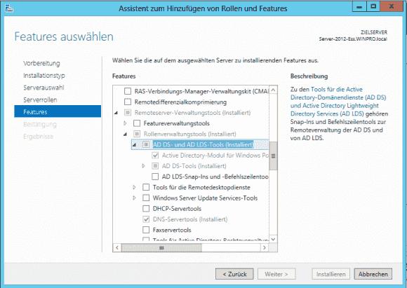 Auf DCs ist das Modul ActiveDirectory standardmäßig schon installiert.