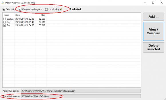Der Speicherort für die ADMX- und ADML-Dateien lässt sich nun explizit auswählen.