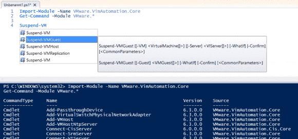 Der Import des VMware-Core-Moduls lädt ca. 300 Cmdlets