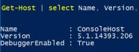 Version von PowerShell 5.1 ermitteln mit Get-Host