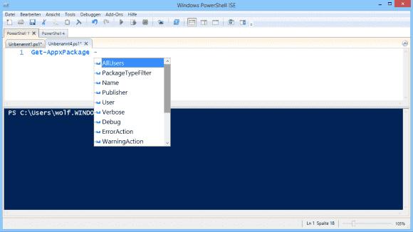 IntelliSense bietet ein Type-ahead für Cmdlets, Parameter und Befehlswörter. Es soll auch für Linux-Editoren zur Verfügung stehen.