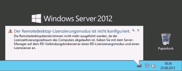 Die RDS verlangen nicht nur eigene CALs, sondern auch einen eigenen Lizenz-Server zu ihrer Verwaltung.