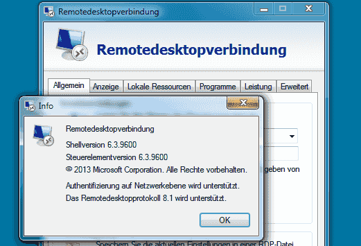 RDP 8.1 unter Windows 7 SP1