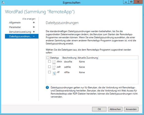 Beim Doppelklick auf bestimmte Dateitypen kann automatisch eine RemoteApp gestartet werden.