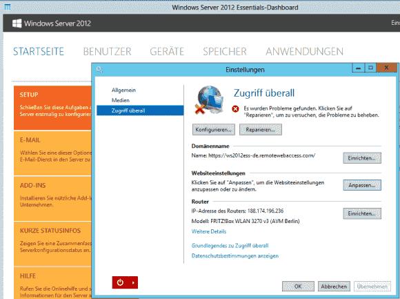 Unter Websiteeinstellungen lässt sich das Aussehen der Browser-Oberfläche anpassen.