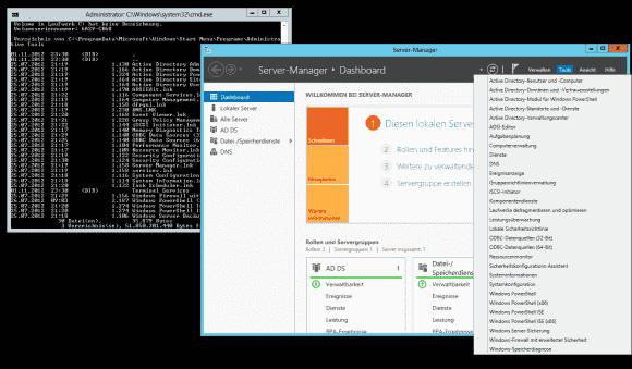 Unter den Magervarianten von Server 2012 fehlt der Explorer, so dass man die Verknüpfungen von anderen PCs kopieren muss.