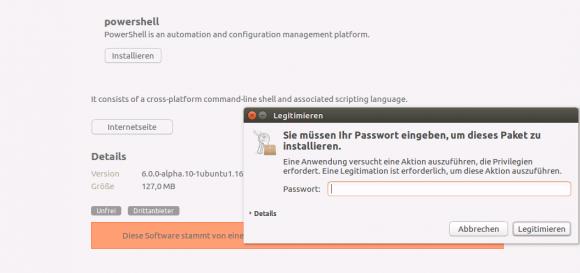 Installation von PowerShell auf Ubuntu 16.4