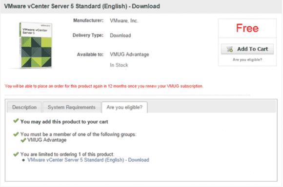 Für den Download der EVALExperience-Lizenzen betreibt die VMUG eine eigene Website.