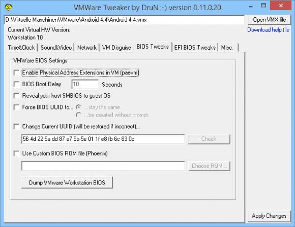 Der VMware Tweaker erleichtert die VM-Konfiguration mit Hilfe von vmx-Einstellungen.