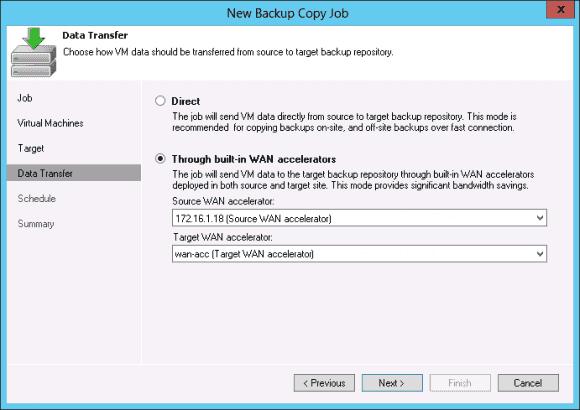 Über Backup Copy Jobs spezifiziert der Administrator das Ziel, welches auch am anderen Ende einer WAN-Verbindung liegen kann.