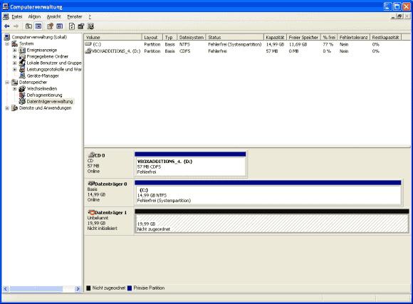 Der Nur-Lese-Zugriff auf VHDX lässt auch kein Management des Laufwerks im Gastsystem zu.