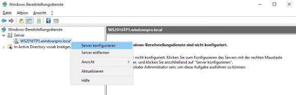 WDS über das MMC-Plugin konfigurieren