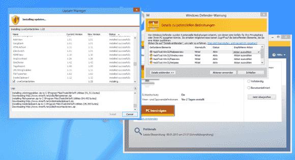 WSCC installiert und aktualisiert alle Programme automatisch. Security Essentials beschwert sich über angebliche Hacker-Tools.