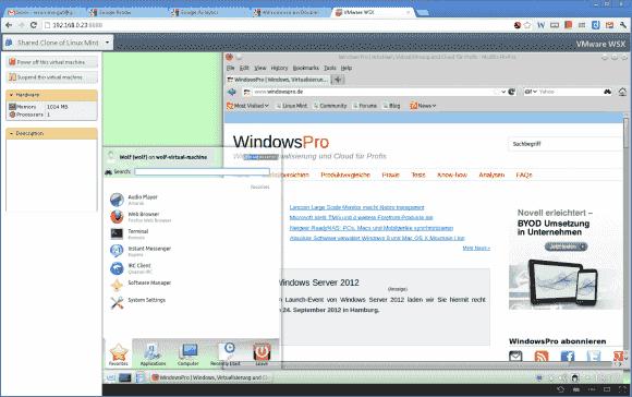 Das Benutzererlebnis ist im Vergleich zur Workstation eingeschränkt, dennoch eignet sich WSX für einfachere Aufgaben.