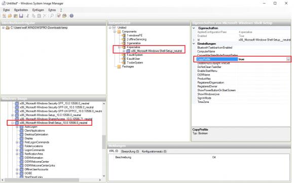 Antwortdatei für sysprep mit WinSIM erstellen