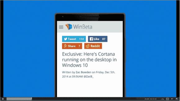 Cortana ist eine der Apps, die Windows 10 auf allen Gerätetypen enthalten soll, also auch auf dem Desktop.