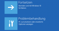 Bootmenu mit Option für Windows Recovery Environment (WinRE)