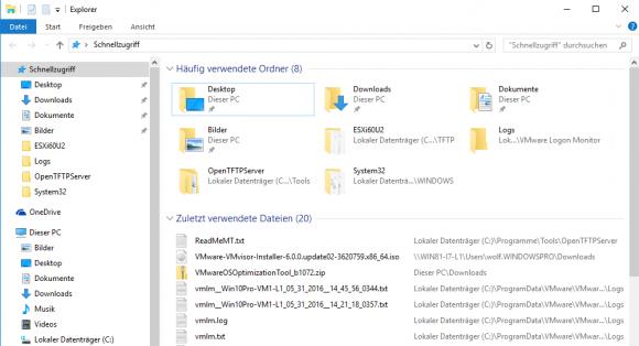 Der so genannte Schnellzugriff gehört zu den Neuerungen des Explorers in Windows 10.