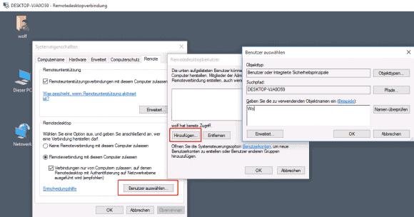Standardmäßig dürfen sich nur Administratoren über RDP mit dem Computer verbinden, andere Benutzer muss man erst zulassen.