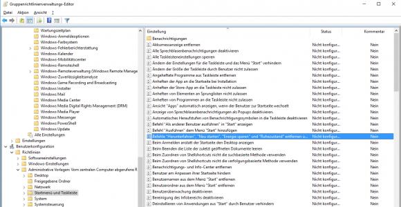 Die meisten altbekannten Einstellungen für das Startmenü greifen unter Windows 10 nicht mehr.